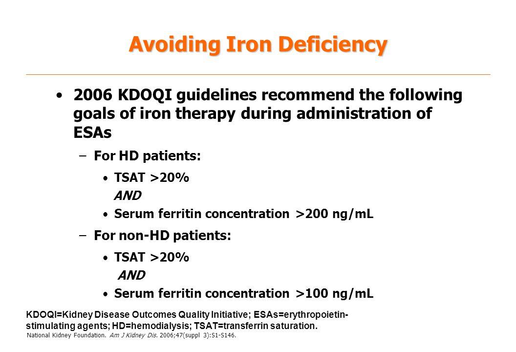 Avoiding Iron Deficiency