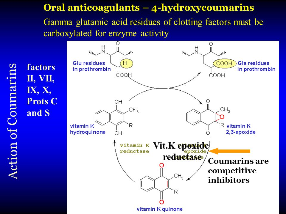 Oral anticoagulants – 4-hydroxycoumarins