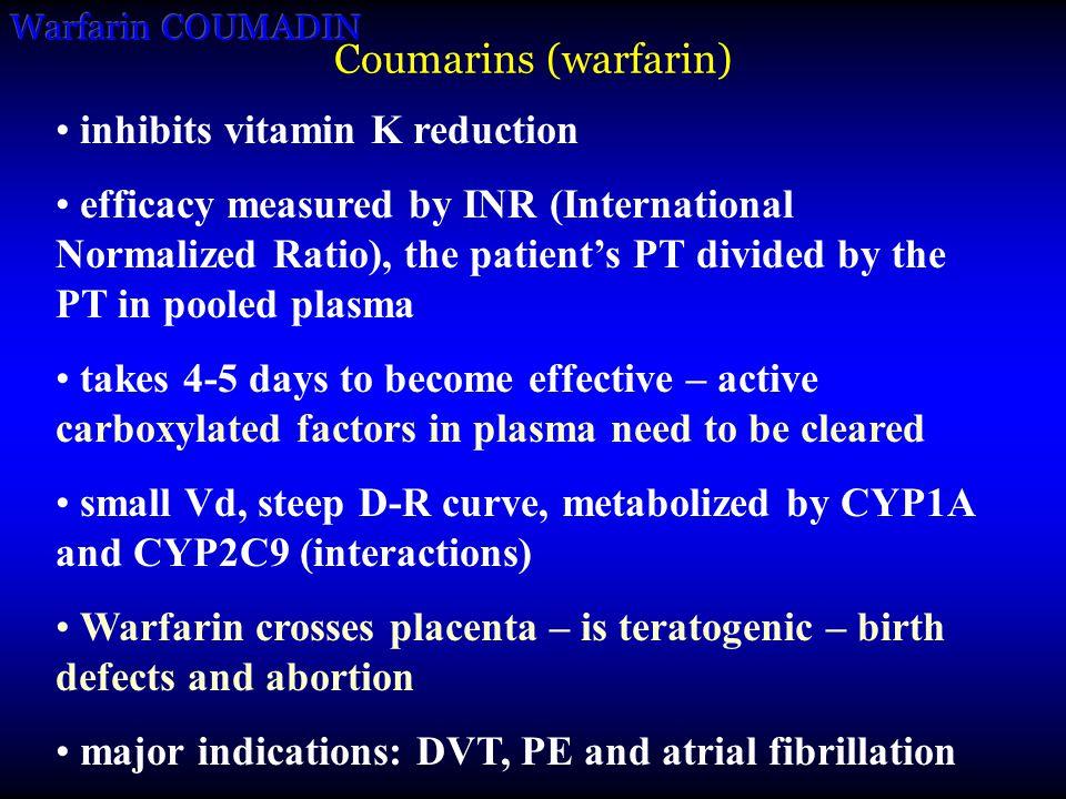 inhibits vitamin K reduction