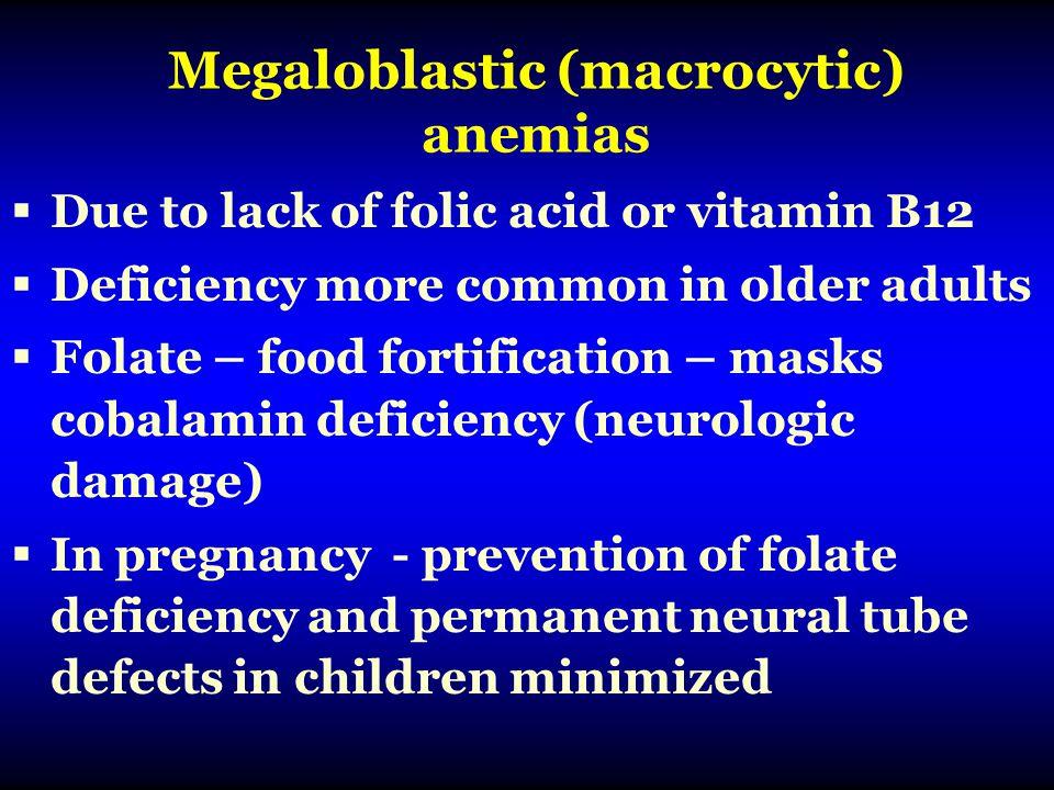 Megaloblastic (macrocytic) anemias