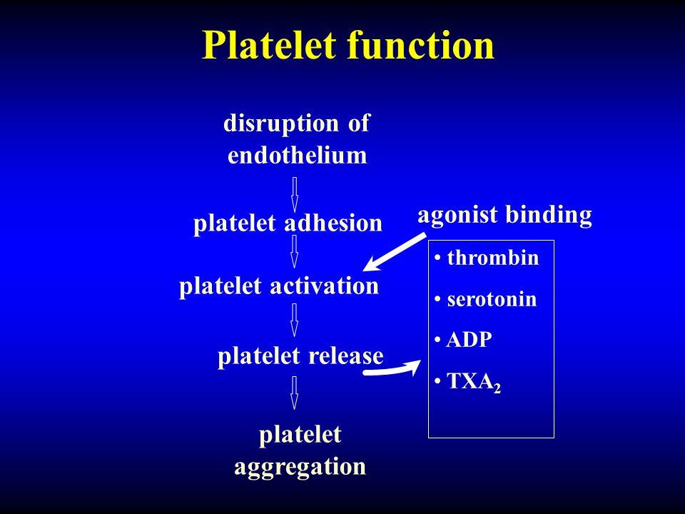 disruption of endothelium
