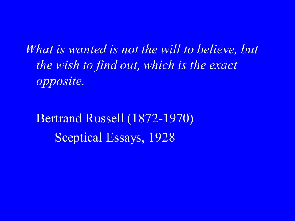 Bertrand russell skeptical essays 1928