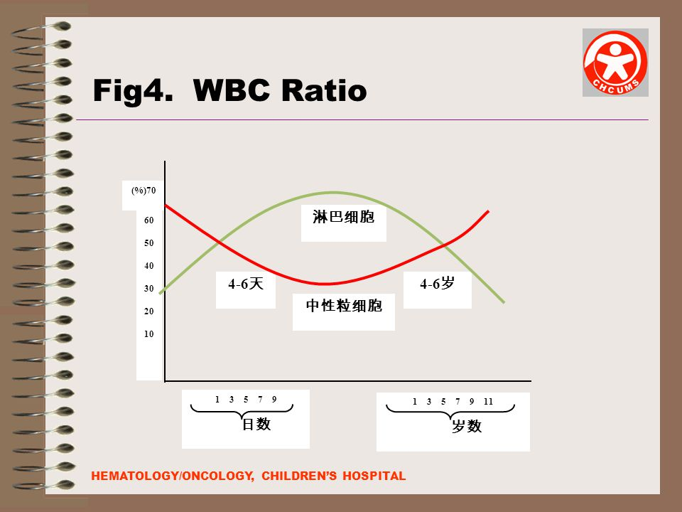 Fig4. WBC Ratio 淋巴细胞 4-6天 4-6岁 中性粒细胞