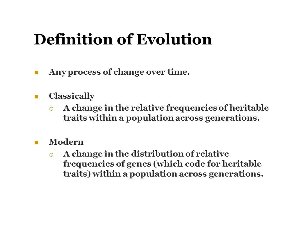 Definition of Evolution
