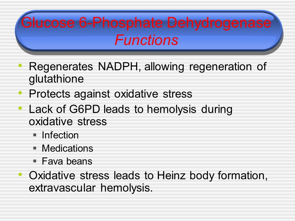 Glucose 6-Phosphate Dehydrogenase Functions