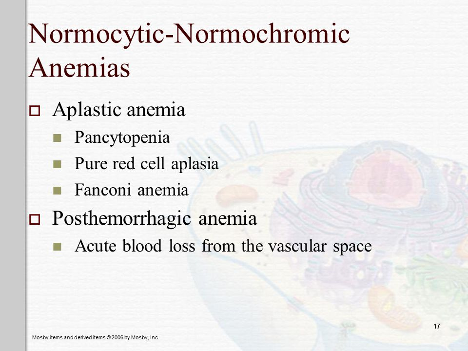 Normocytic-Normochromic Anemias