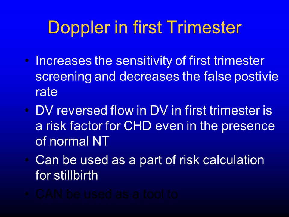 Doppler in first Trimester