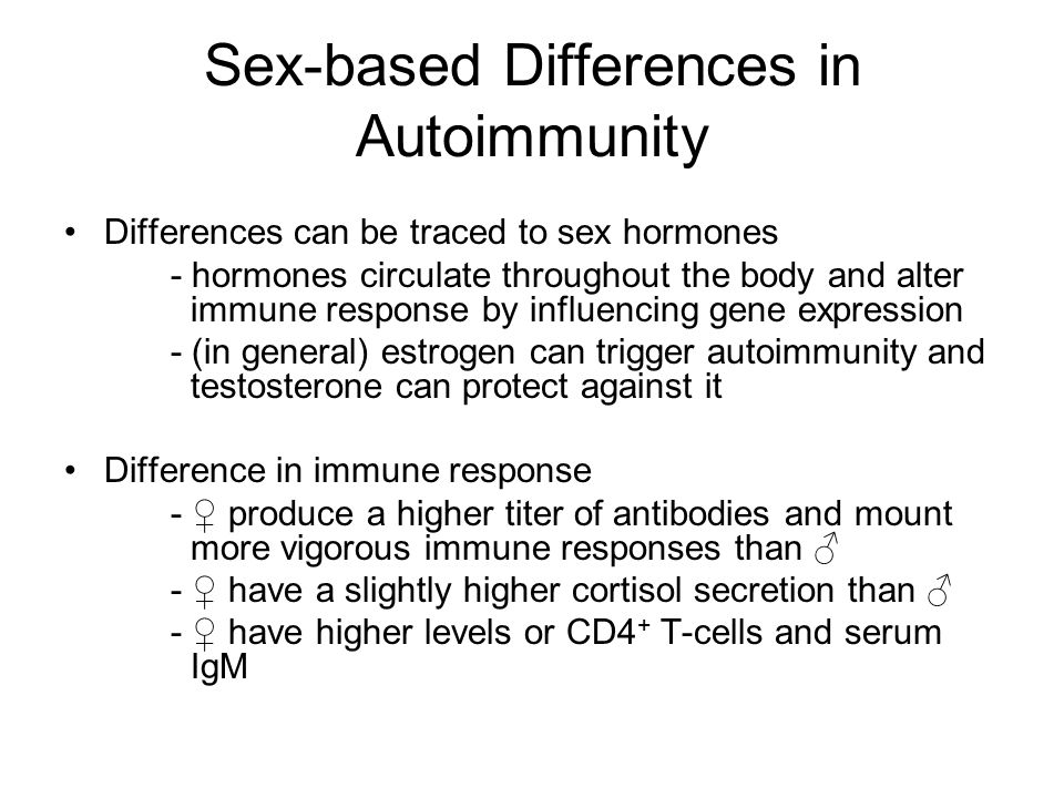 Sex-based Differences in Autoimmunity