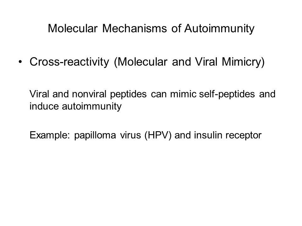 Molecular Mechanisms of Autoimmunity