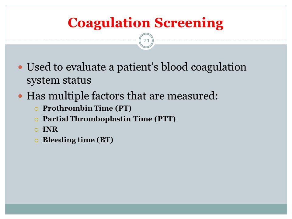 Coagulation Screening