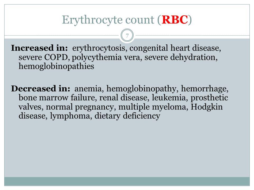 Erythrocyte count (RBC)