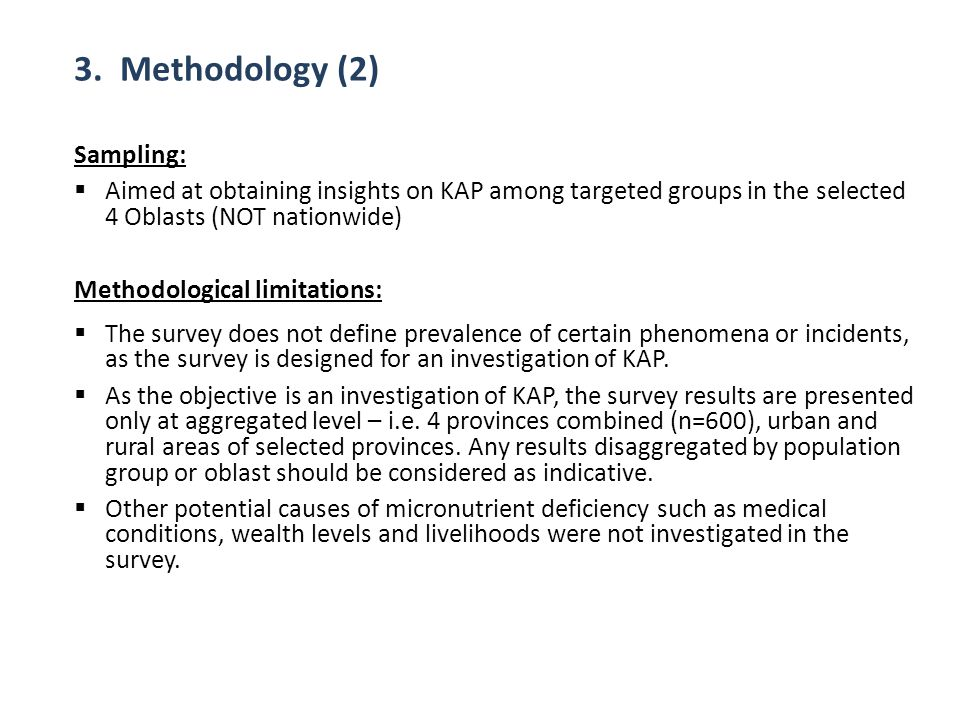 3. Methodology (2) Sampling: