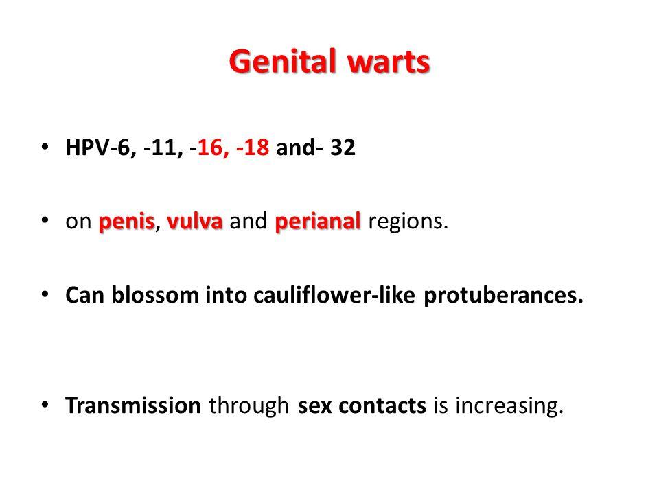 Genital warts HPV-6, -11, -16, -18 and- 32