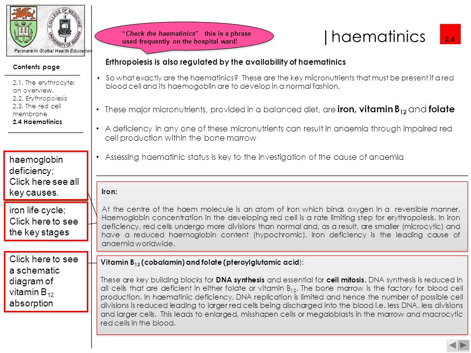 |haematinics haemoglobin deficiency; Click here see all key causes.