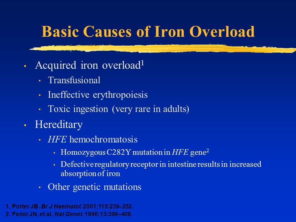 Basic Causes of Iron Overload