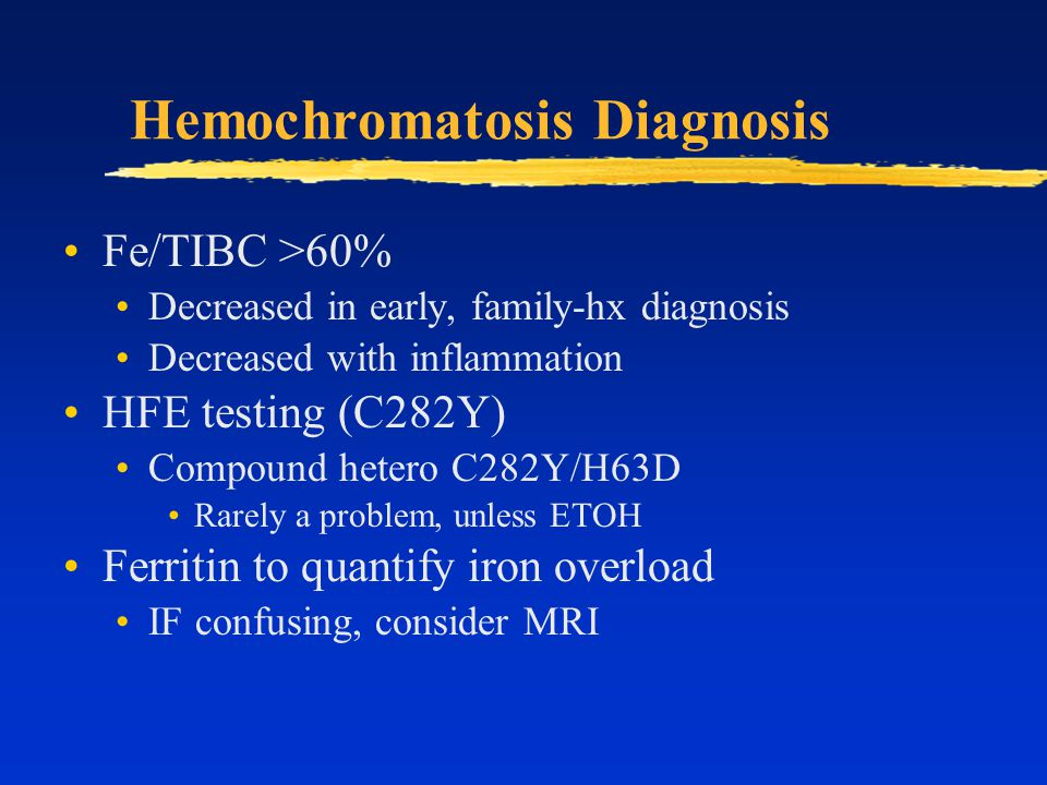 Hemochromatosis Diagnosis