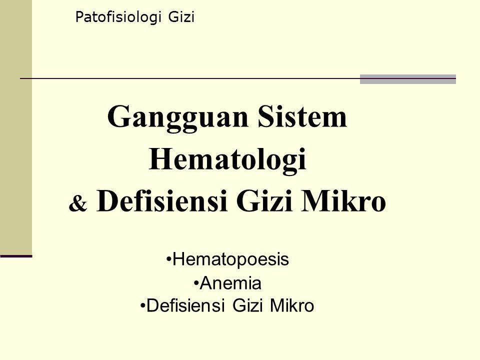 Gangguan Sistem Hematologi & Defisiensi Gizi Mikro