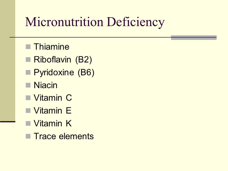Micronutrition Deficiency