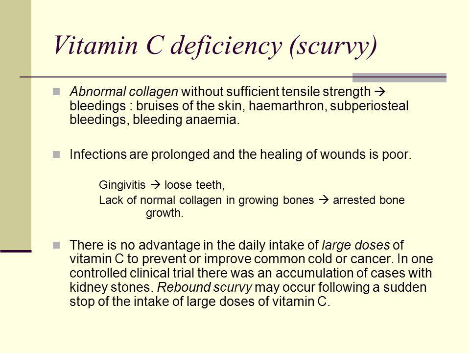 Vitamin C deficiency (scurvy)