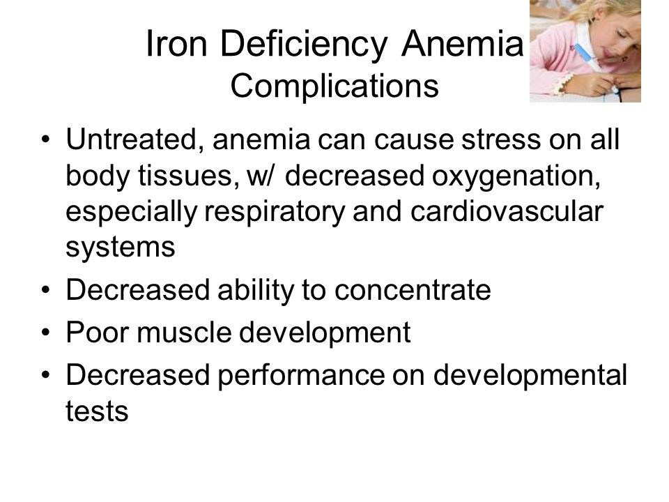 Iron Deficiency Anemia Complications