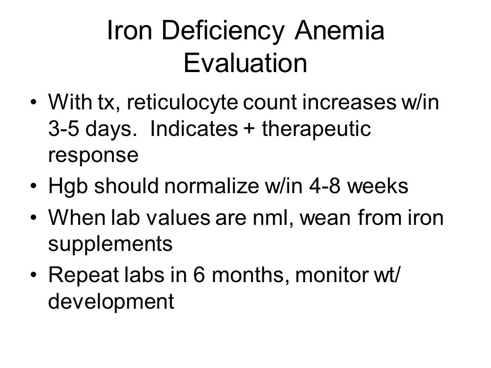 Iron Deficiency Anemia Evaluation