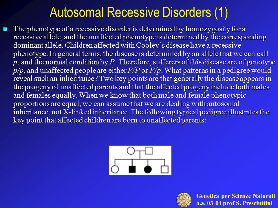Autosomal Recessive Disorders (1)