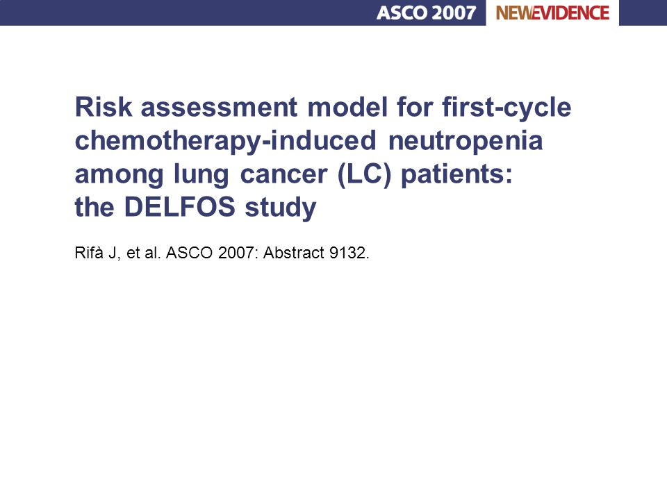 Risk assessment model for first-cycle chemotherapy-induced neutropenia among lung cancer (LC) patients: the DELFOS study
