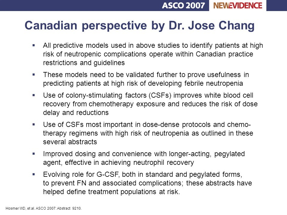 Canadian perspective by Dr. Jose Chang