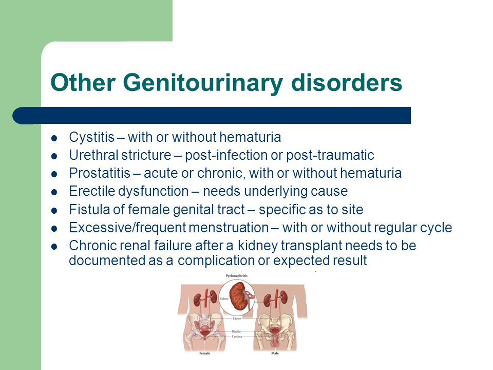 Other Genitourinary disorders
