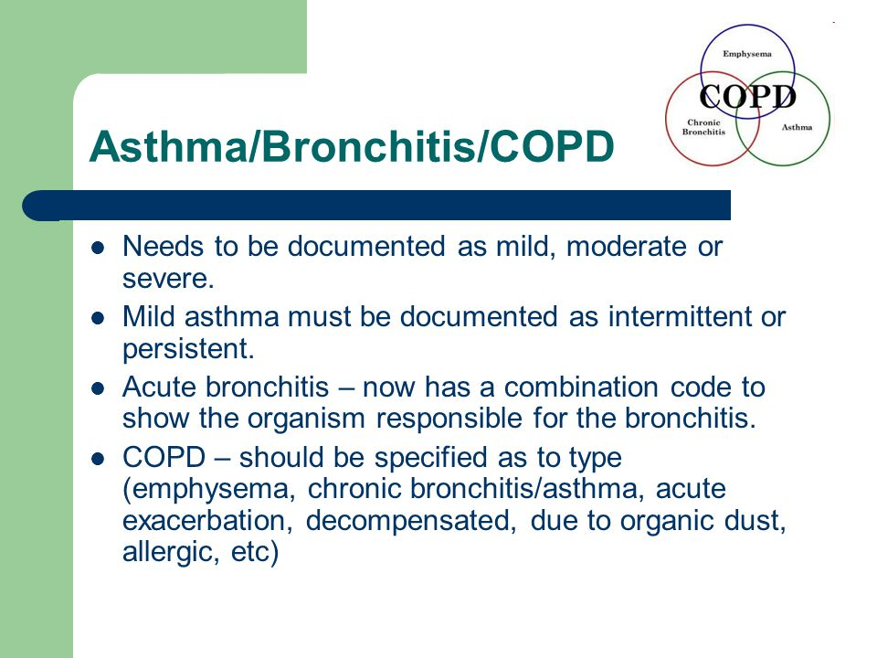 Asthma/Bronchitis/COPD