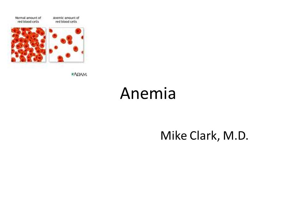 Anemia Mike Clark, M.D.