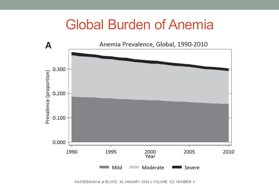 Global Burden of Anemia