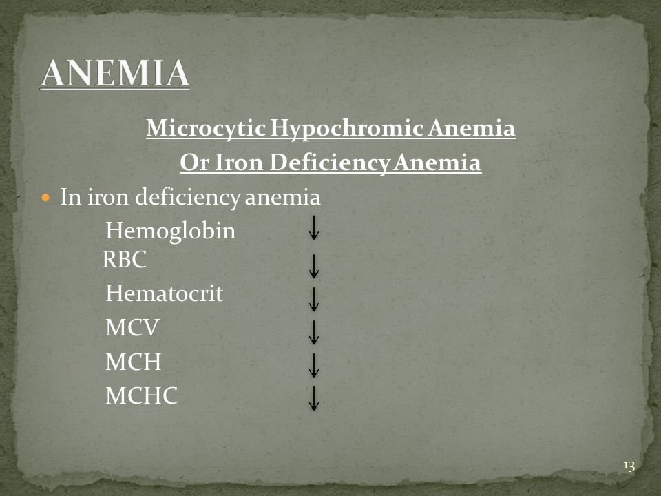 Microcytic Hypochromic Anemia Or Iron Deficiency Anemia