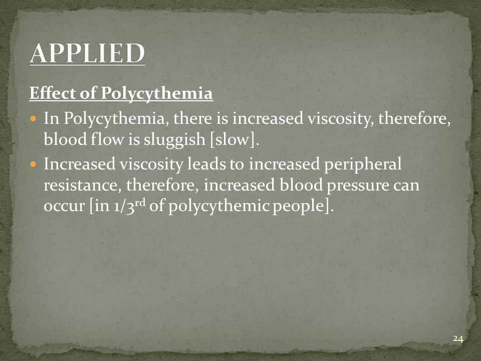 APPLIED Effect of Polycythemia