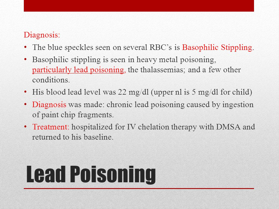 Lead Poisoning Diagnosis: