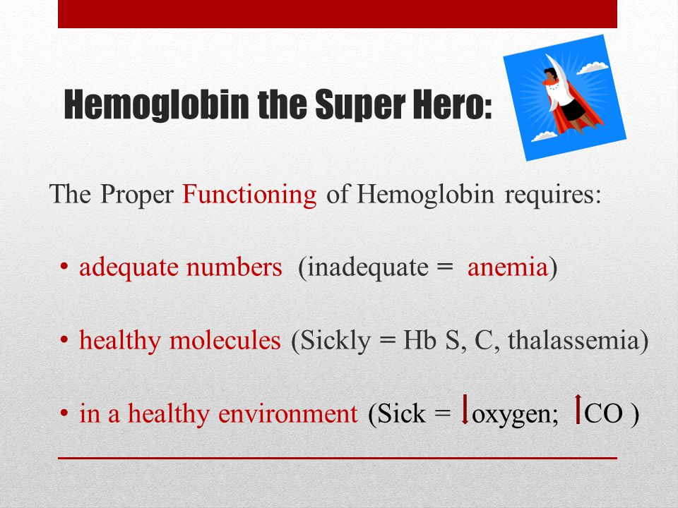 Hemoglobin the Super Hero:
