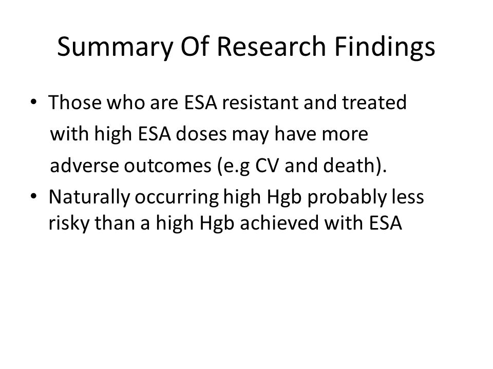 Summary Of Research Findings
