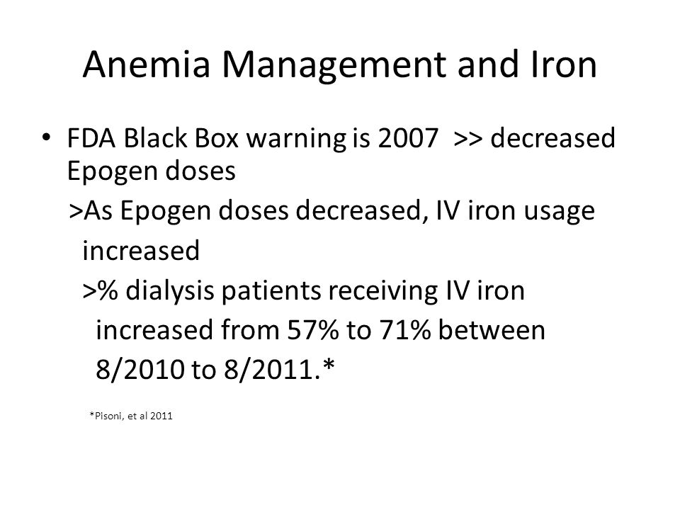 Anemia Management and Iron