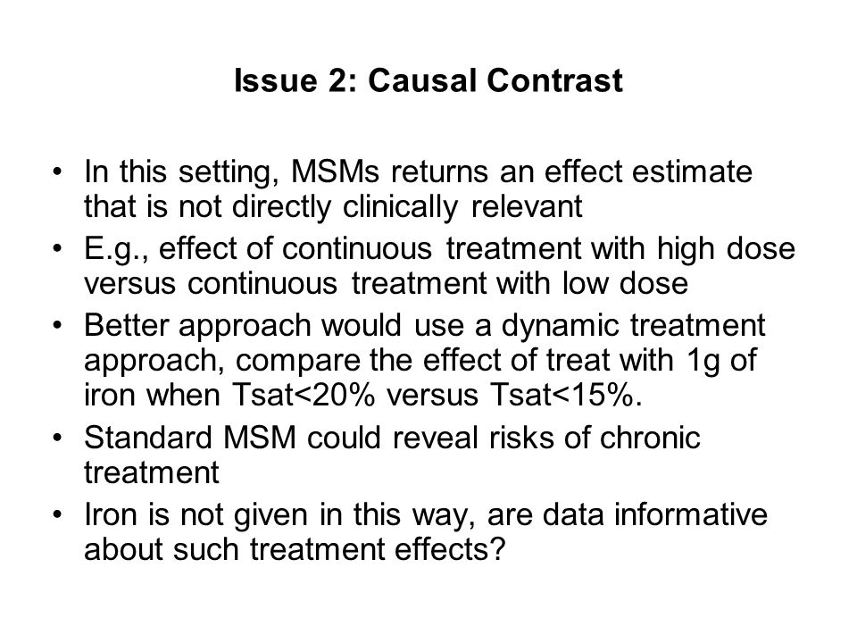 Issue 2: Causal Contrast