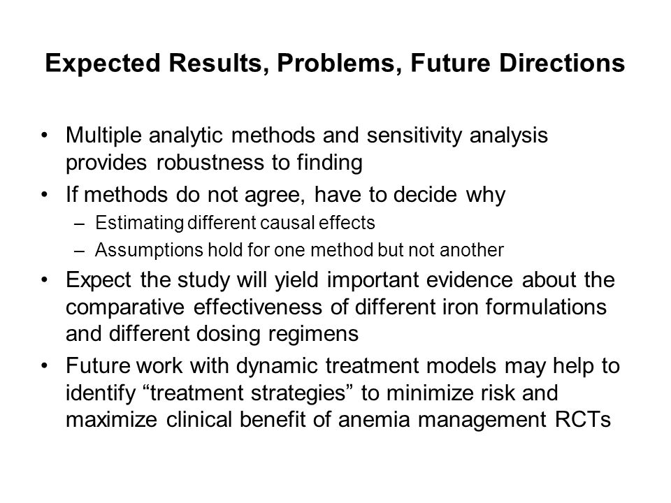Expected Results, Problems, Future Directions
