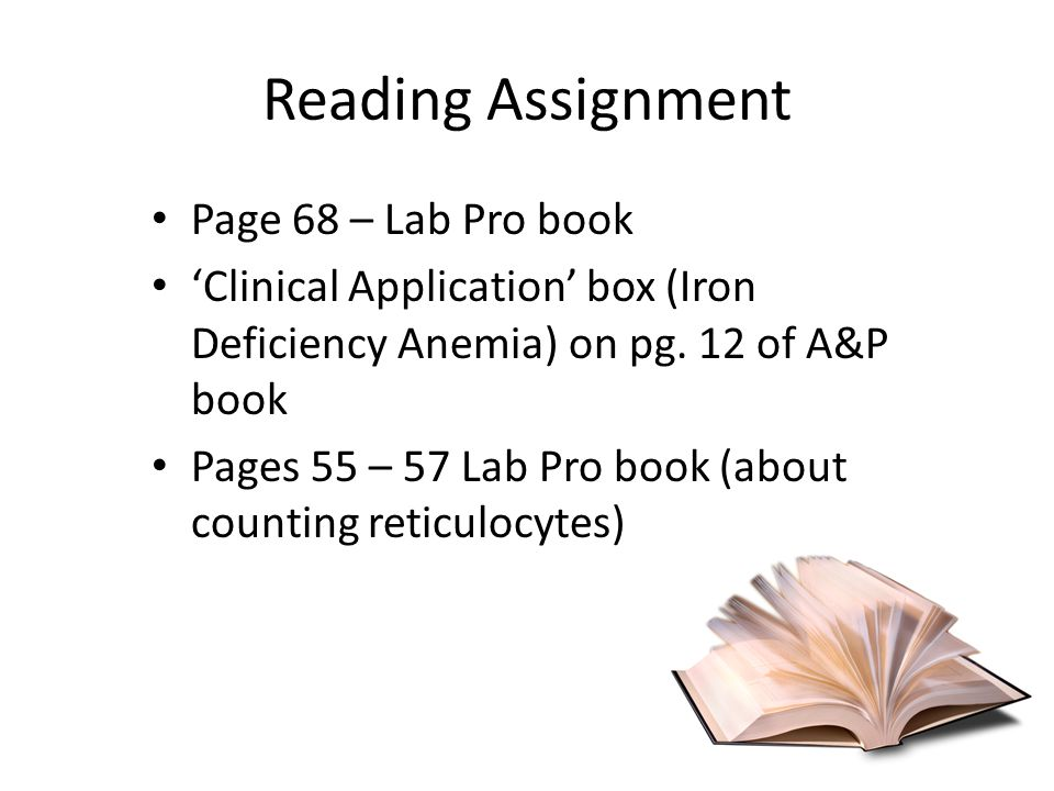 Reading Assignment Page 68 – Lab Pro book