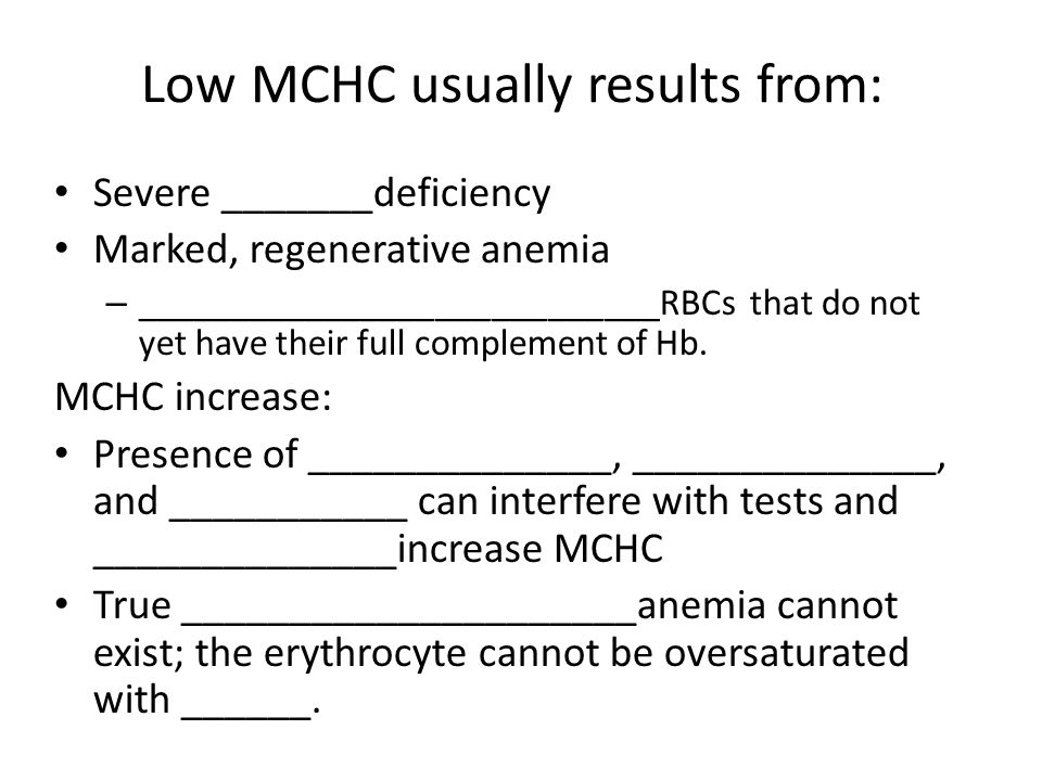 Low MCHC usually results from: