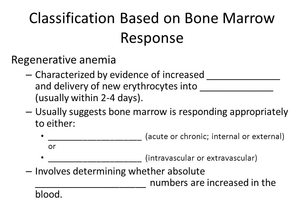 Classification Based on Bone Marrow Response
