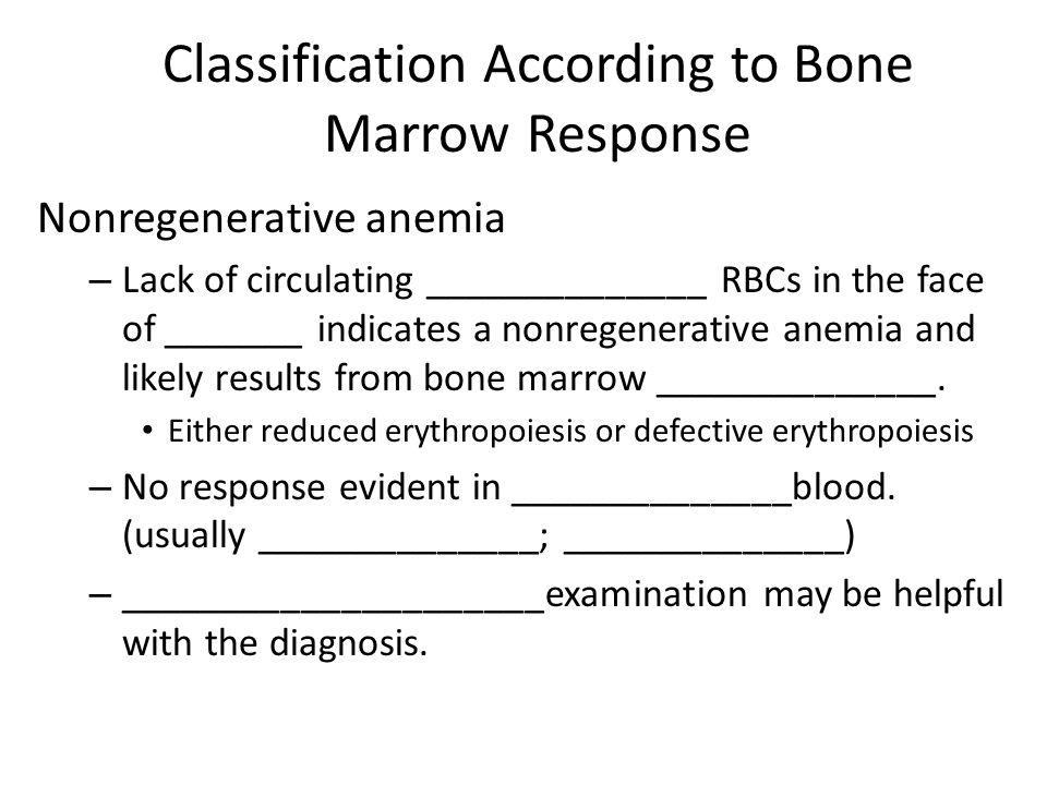 Classification According to Bone Marrow Response