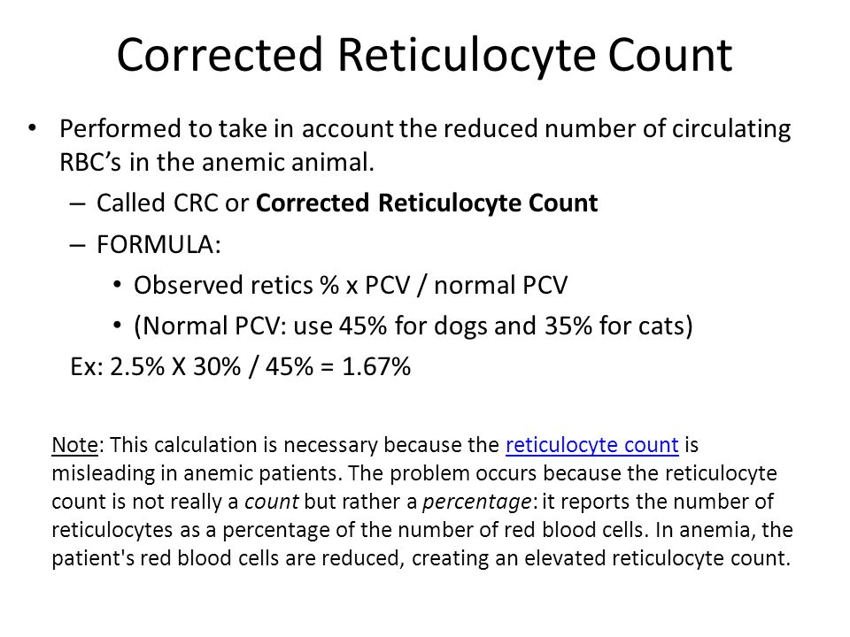 Corrected Reticulocyte Count
