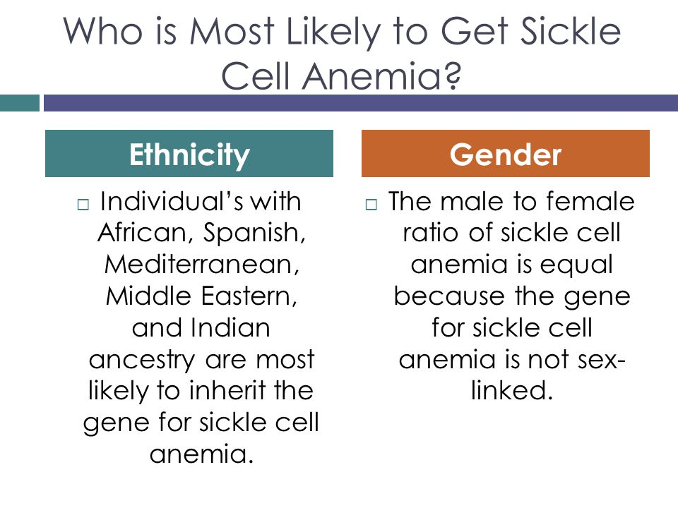 Sickle cell anemia sex linked