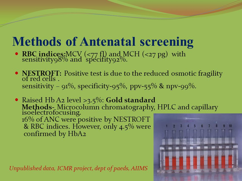 Methods of Antenatal screening
