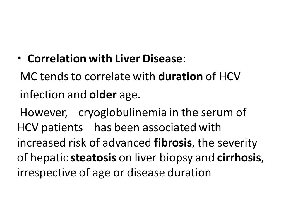 Correlation with Liver Disease: