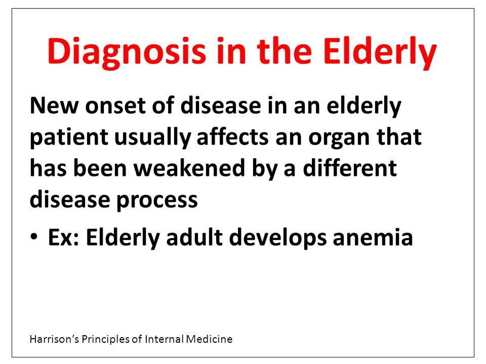 Diagnosis in the Elderly