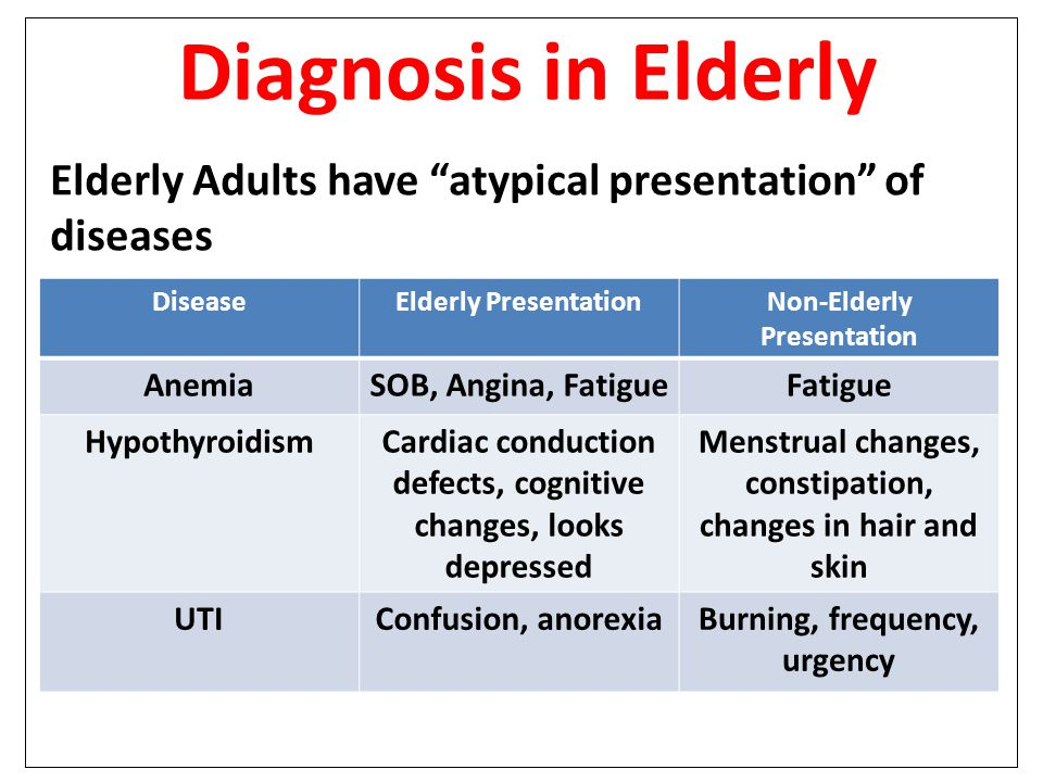 Anemia in older adults
